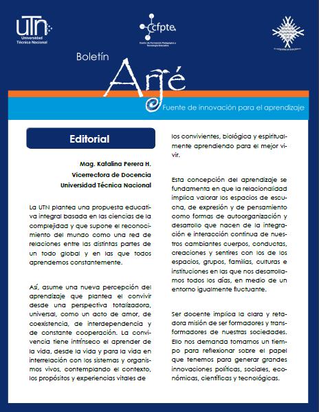 Ver Vol. 1 Núm. 1 (2015): Revista Académica Arjé