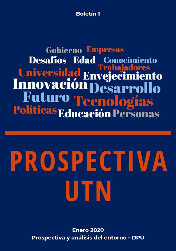 Imagen del primer número del Boletín Prospectiva UTN